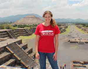 Becky at Teotihuacan