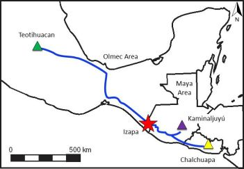 Izapa Trade Route Map